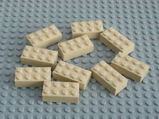 NEW LEGO BRICKS - 50 x 2x4pin TAN BUILDING BRICKS 3001 -