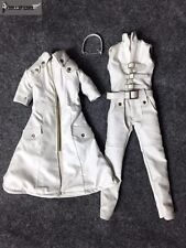 DOLLSFIGURE 1/6 CC282 White leather Coverall Suits For Female Figure Body Toy