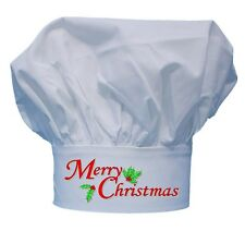 Merry Christmas Chef Hat For Holiday Cooking Toques by CoolChefHats