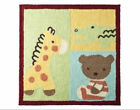 TIDDLIWINKS - ABC 123 Giraffe, Teddy Bear & Alligator 30 x 30 inch NURSERY RUG
