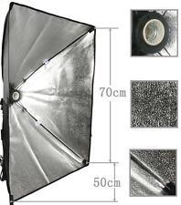 """50cm x 70cm/20""""x28"""" Photo Video Studio E27 Light Lamp Bulb Tube CFL Softbox Kit"""