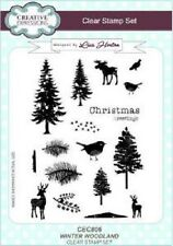 CREATIVE EXPRESSIONS A5 Clr Stamp Set Stamps WINTER WOODLAND CEC806 Lisa Horton