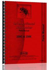International Crawler Parts Manual (250C Crawler | 250E Crawler)