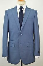 Men's 2 Button Slim-fit Blue Sharkskin Suit SIZE 42R NEW w/ Ticket Pocket