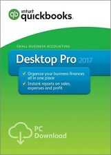 QuickBooks Pro 2017 1-User Download - New!!