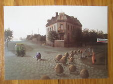 vtg Michael Sowa Zum Kartoffellagerhaus POSTCARD potato pickle jail house Berlin