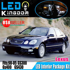 16X White LED Light Bulbs Interior Package Kit for 98-05 Lexus GS300 GS400 GS430