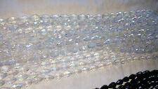 Joblot 6 strings Clear AB Tear drop shape Crystal beads new wholesale 15 mm