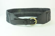 LADIES BLACK STRAP WAIST CLINCHER BELT CRISS-CROSS STRING DESIGN (SC12)