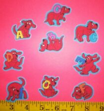 New! Cool! Clifford the Big Red Dog Alphabet Iron-on Fabric Appliques ~ Iron ons