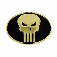 Marvel Comics Punisher Oval Belt Buckle Black and Gold
