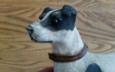 Antique terrier figure toy glass eyes unusual.