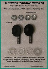 """DK Custom Products Thunder Torque Inserts 118W motorcycle exhaust inserts 1 1/8"""""""