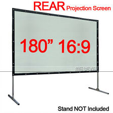 """180"""" 16:9 Back Rear Portable Projection Screen Film for DLP 3D LED LCD Projector"""