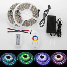 New Waterproof 2.4G10M 600Led RGBW SMD5050 LED Strip Light Touch RF Remote Power