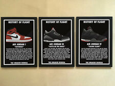 "3pcs Solid frame - 001 Sneakers Air Jordan Shoes 12""x16"" Minimalist Wall Poster"