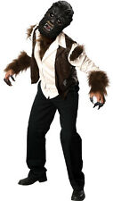 Mens THE WOLFMAN DLX Costume Shirt Vest Were Wolf Finger Mask Adult Large XL 46