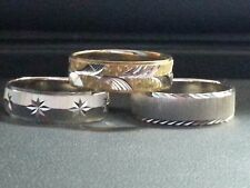 LOT OF 3 FASHION MUTI-TONE AND SILVER TONE RINGS SIZE 9.75