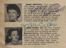 BOBBY DRISCOLL Disney child actor star autograph signed directory scarce rare