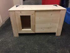 GATTO in Legno Nascondi, lo strame BOX, piccoli PET Shelter ** nuovo design ** 80 cm x 38cm x 45cm