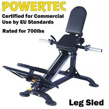 POWERTEC Compact Leg Sled P-CLS14 Press Hack Squat Home Gym Fitness
