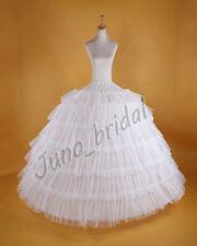Luxus Weiß Reifrock Reifröcke Unterrock Hochzeit Petticoat 7 Ringe XL110cm