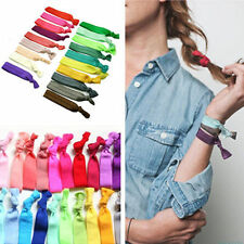 30PC Mixed Color Ponytail Holders Elastic Band Ribbon Hair Ties Hair Accessories