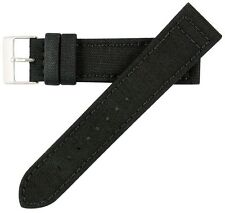 18mm Men's Genuine Cordura Canvas Black Watch Band Strap MS850 Hadley-Roma