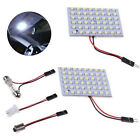 2x 48 SMD LED White Panel Light 12V Car Interior Bulb Lamp T10 BA9S Dome Festoon