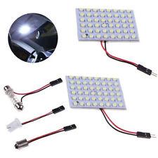 2x 48 SMD LED White Panel Light 12V Car Interior Bulb Lamp T10 BA9S Dome Festoon