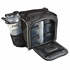 Lunch Bag Insulated Men Lunchbox Thermal Portion Control Container Shaker Silver