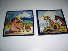 antique Rugerio Mexican Tile painted art terracotta puebla TILES