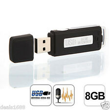 Mini 8GB Digital Audio Voice Recorder 150 hrs Recording USB Disk Pen Flash Drive