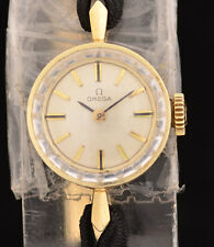Vintage Omega 14K Yellow Gold Ladies Wrist Watch Gold Filled Clasp 7.3 grams