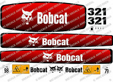 BOBCAT 321 MINI Digger COMPLETO Adesivo Decalcomania Set