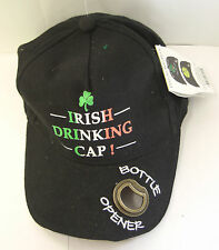 IRELAND IRISH DRINKING CAP WITH BOTTLE OPENER TRI COLOUR WRITING & SHAMROCK