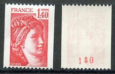 STAMP / TIMBRE FRANCE NEUF N° 2104a ** TYPE SABINE ROULETTE N° ROUGE AU DOS