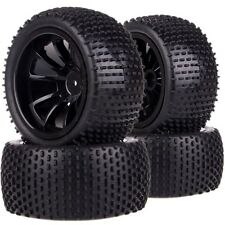 SET 1/10 Monster Truck 12MM HEX Wheel Rim & Tyre,Tires 88071 Fit TRAXXAS HSP HPI