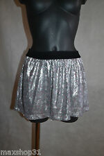 JUPE BERSHKA SOIREE SEQUIN STRASS 40/42/44 / XL SKIRT/ROCK/GONNA/FALDA NEUF