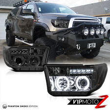 Left+Right CCFL Halo Angel Eye Smoke Projector Headlight 2007-2013 Toyota Tundra