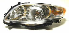Toyota Corolla USA 09-13 Left Front head lamp lights for CE/LE models CHROME