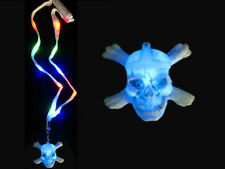 FLASHING LED LIGHT UP HALLOWEEN SKULL NECKLACE RAVE PARTY RAVING FUN!