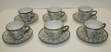 6 VINTAGE  DEMITASSE CUP AND SAUCER SETS BY STERLING CHINA MADE IN JAPAN