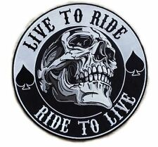 Live To Ride Ride To Live Skull Reaper Anarchy Outlaw Biker MC XXL Back Patch