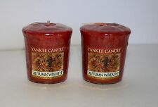 2 Yankee Candle Autumn Wreath New Halloween Thanksgiving Fall Scented Votive
