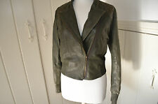 BNWT - WRAP - Ladies Leather Aviator Studded Jacket  Designer - UK 10 - NEW