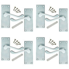 4 Pack of Victorian Scroll Satin Chrome Internal Door Handles 114x40mm