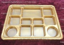 Gold Eleven Compartment plastic plate or Plastic Thali - 50 plates
