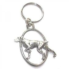 Pointer Dog PEWTER KEY RING FOB CHAIN BAG CHARM Owner Trainer Present GIFT BOX