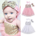 Baby Girls Clothes Headband Summer Dress Girl Pageant Wedding Dress Lace Flower